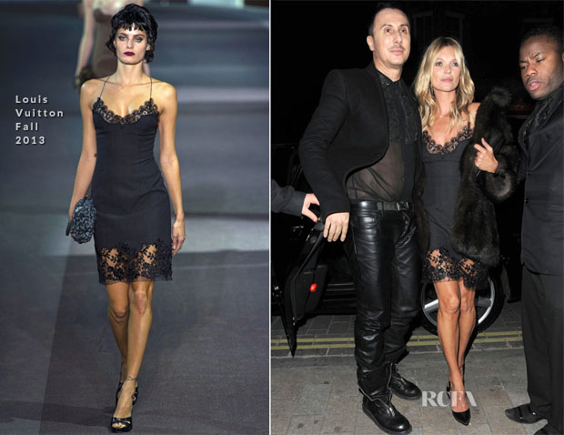 Kate Moss In Louis Vuitton - Kerastase Launch Event