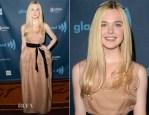 Elle Fanning In Lanvin - 24th Annual GLAAD Media Awards