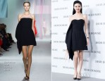 Jing Tian In Christian Dior - Dior Homme Fall/Winter 2013 Menswear Collection Show