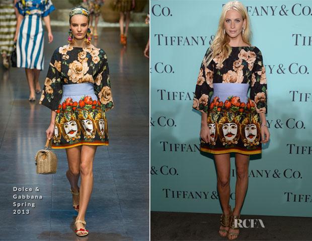 Poppy Delevingne In Dolce & Gabbana - Tiffany & Co Blue Book Ball