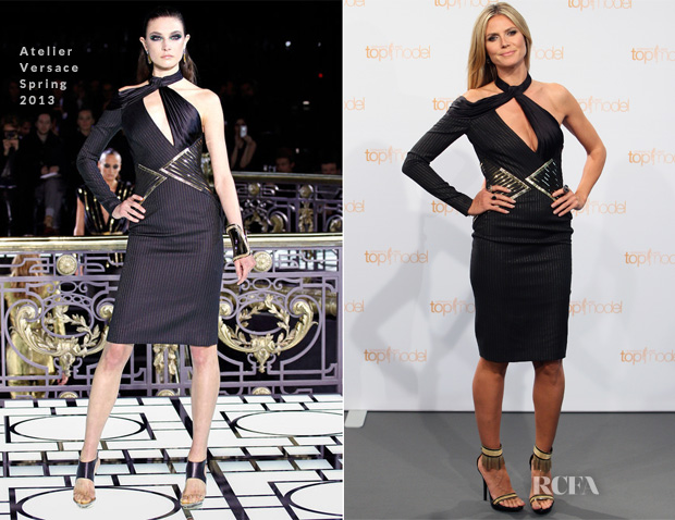 Heidi Klum In  Atelier Versace  - Germany's Next Top Model Photocall