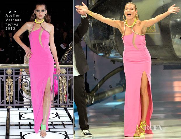 Heidi Klum In Atelier Versace - 'Germany's Next Topmodel' Finals