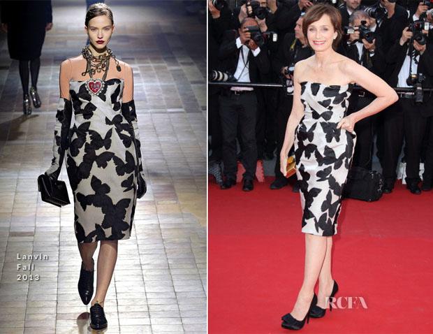Kristin Scott Thomas In Lanvin - 'The Immigrant' Cannes Film Festival Premiere