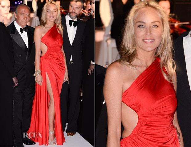 Sharon Stone In Roberto Cavalli - De Grisogono Party