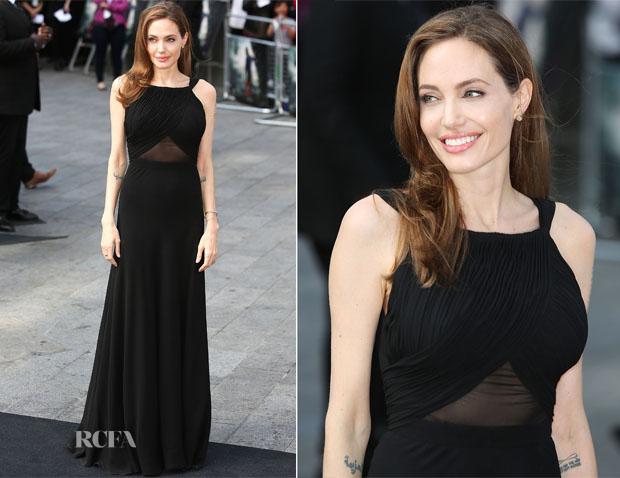 Angelina Jolie In Saint Laurent - World War Z World Premiere