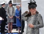 Catherine, Duchess of Cambridge In Hobbs - Princess Cruises Naming of the Ship Ceremony