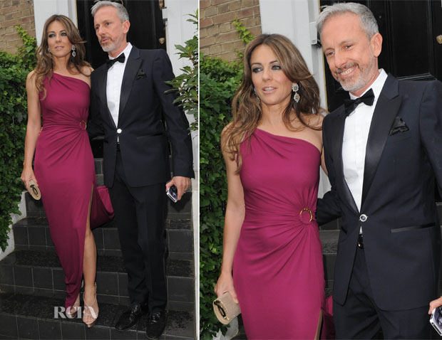 Elizabeth Hurley In Emilio Pucci - 15th Annual White Tie and Tiara Ball