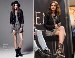 Lily Collins In Rachel Zoe - 'Mortal Instruments: City of Bones' Meet & Greet