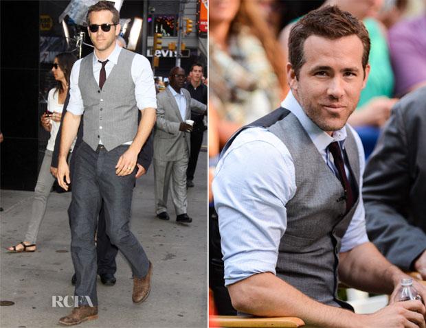 Ryan Reynolds In Todd Snyder & Rag & Bone - Good Morning America