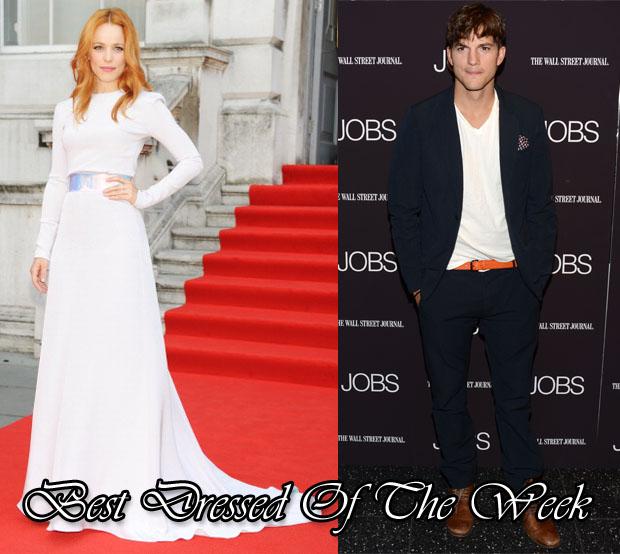 Best Dressed Of The Week - Rachel McAdams In Roksanda Ilincic & Ashton Kutcher In Rag & Bone