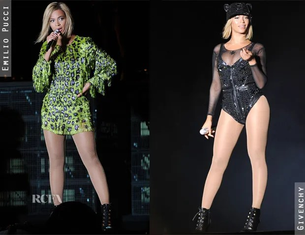 Beyonce Knowles' Multiple Costume Changes At V Festival 3
