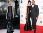 Keisha Whitaker In Badgley Mischka & Forest Whitaker In Prada - 'The Butler' New York Premiere