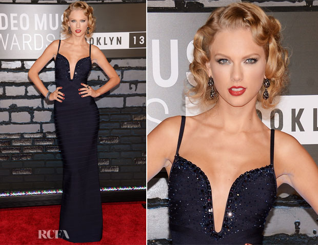 Taylor Swift In Hervé Léger - 2013 MTV Video Music Awards #VMAs