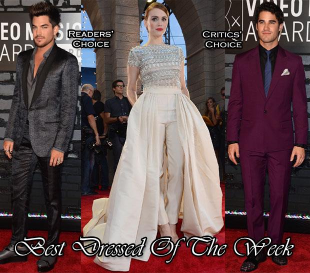 Best Dressed Of The Week - Holland Roden In Naeem Khan, Adam Lambert In Lanvin & Darren Criss In Versace