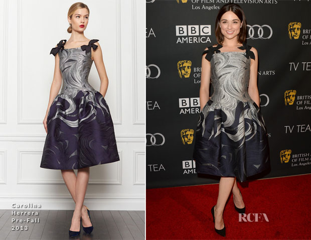 Crystal Reed In Carolina Herrera - BAFTA Los Angeles TV Tea 2013