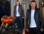David Beckham In Belstaff - Belstaff House Opening Photocall
