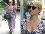 Dianna Agron In Natalie Martin - Out In New York City