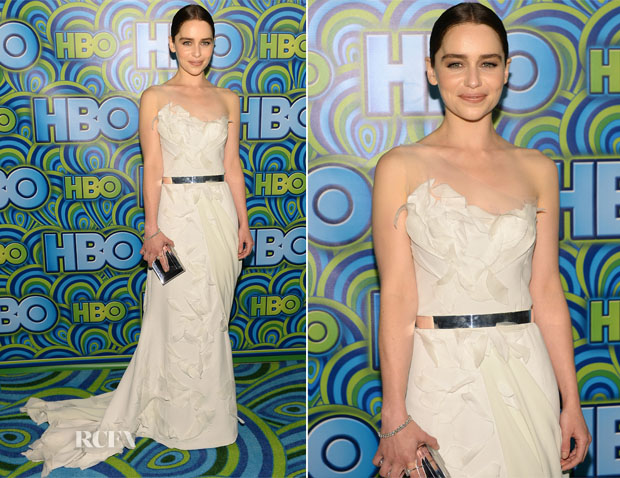 Emilia Clarke In Donna Karan Atelier - 2013 Emmy Awards
