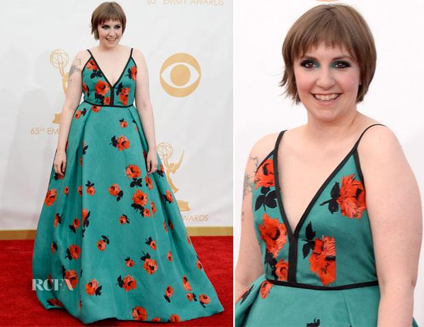 Lena Dunham In Prada - 2013 Emmy Awards