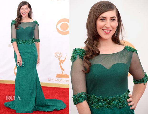 Mayim Bialik In Oliver Tolentino - 2013 Emmy Awards