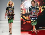 Meta Golding In Manish Arora - 'The Hunger Games: Catching Fire' Victory Mall Tour