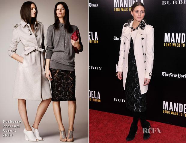 Olivia Palermo In Burberry Prorsum - 'Mandela Long Walk To Freedom' Special New York Screening
