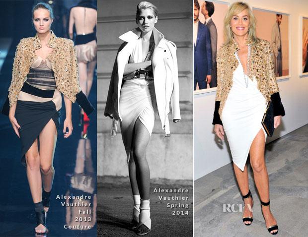 Sharon Stone In Alexandre Vauthier Couture - Ermenegildo Zegna Eminences Grises Unveiling