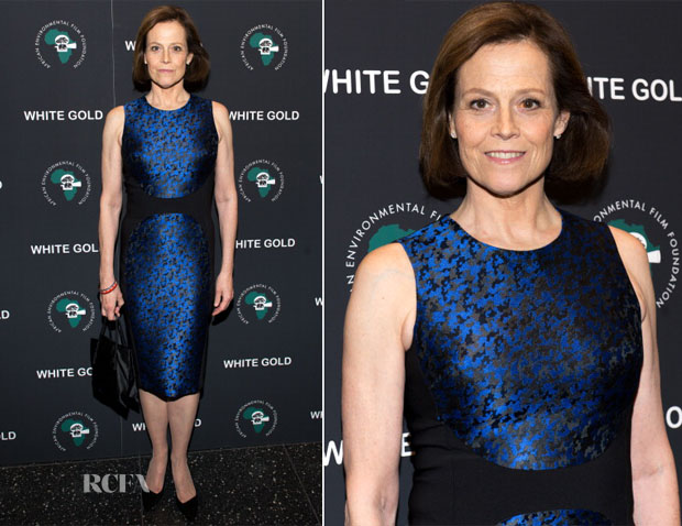Sigourney Weaver In Michael Kors - 'White Gold' Special Screening