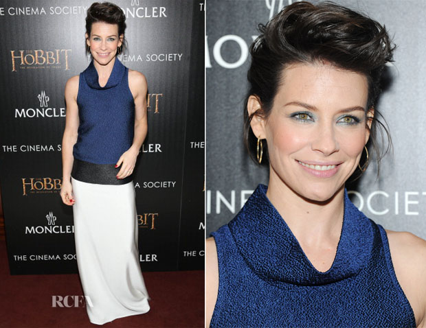 Evangeline Lilly In Paper London - 'The Hobbit The Desolation Of Smaug' New York Screening