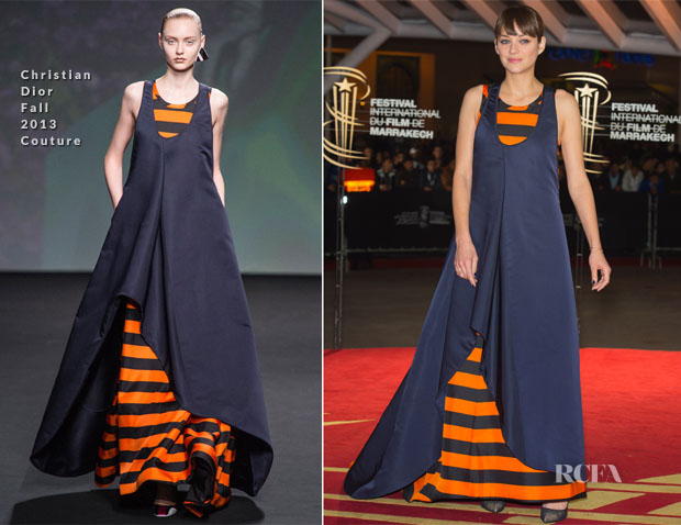 Marion Cotillard In Christian Dior Couture - 'Waltz With Monica' Marrakech Film Festival Photocall