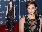 Emma Watson In Theory - InStyle and Warner Brothers Golden Globes Awards Party