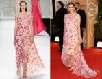Drew Barrymore In Monique Lhuillier - 2014 Golden Globe Awards