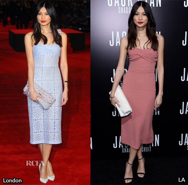 Gemma Chan In Burberry Prorsum - 'Jack Ryan Shadow Recruit' London & LA Premiere