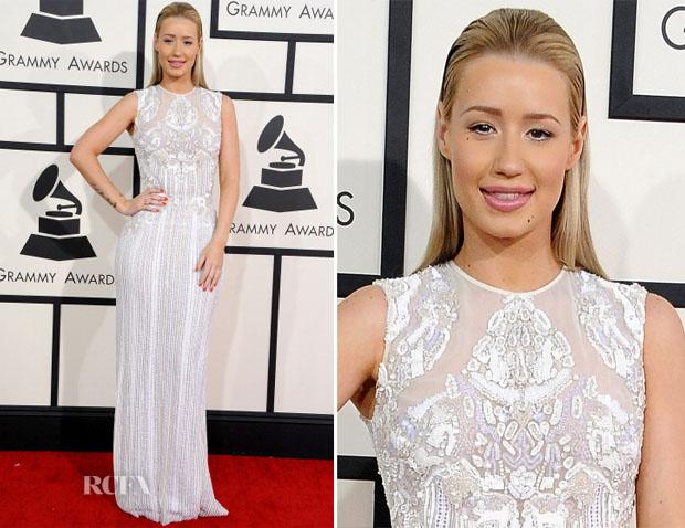Iggy Azalea In Elie Saab - 2014 Grammy Awards