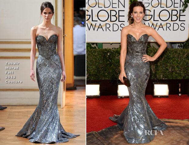 Kate Beckinsale In Zuhair Muard Couture - 2014 Golden Globe Awards