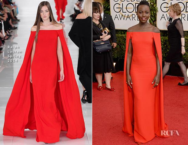 Lupita Nyong'o In Ralph Lauren - 2014 Golden Globe Awards