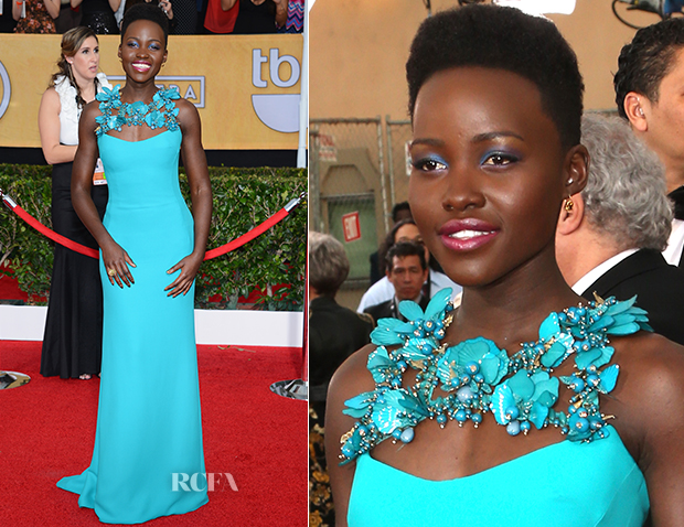 Lupita Nyong'o In Gucci - 2014 SAG Awards