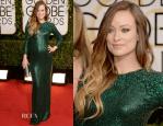 Olivia Wilde In Gucci Première – 2014 Golden Globe Awards