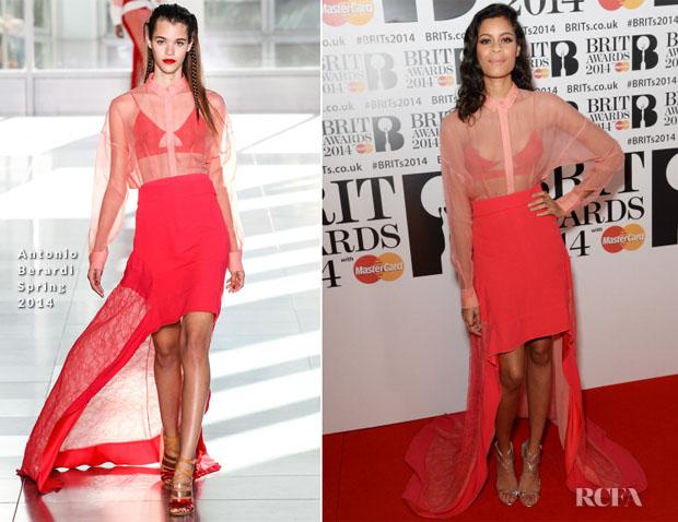 Aluna Francis In Antonio Berardi - Brit Awards 2014