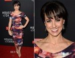 Constance Zimmer In Nicole Miller - 'House Of Cards' Season 2 Screening