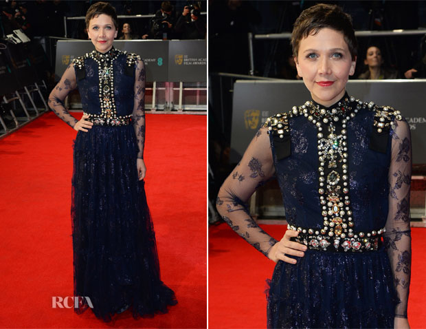 Maggie Gyllenhaal In Lanvin - 2014 BAFTAs