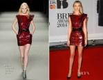 Rosie Huntington-Whiteley In Saint Laurent - Brit Awards 2014