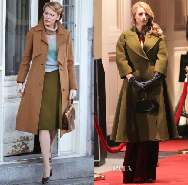 Blake Lively In Gucci – On The Set Of 'Age of Adaline' Part 2