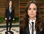 Ellen Page In Saint Laurent - Vanity Fair Oscar Party 2014