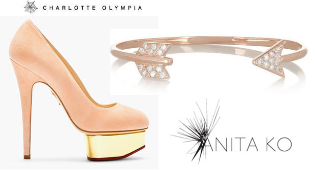 Lea Michele Anito Ko & Charlotte Olympia Dolly Pumps