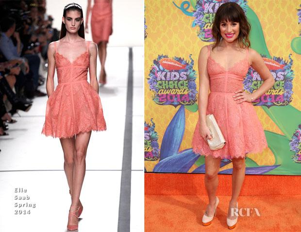Lea Michele In Elie Saab - Nickelodeon Kids' Choice Awards 2014