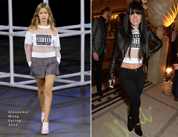 Lily Allen In Alexander Wang - The Glamour Of Italian Fashion 1945-2014 VIP Private View