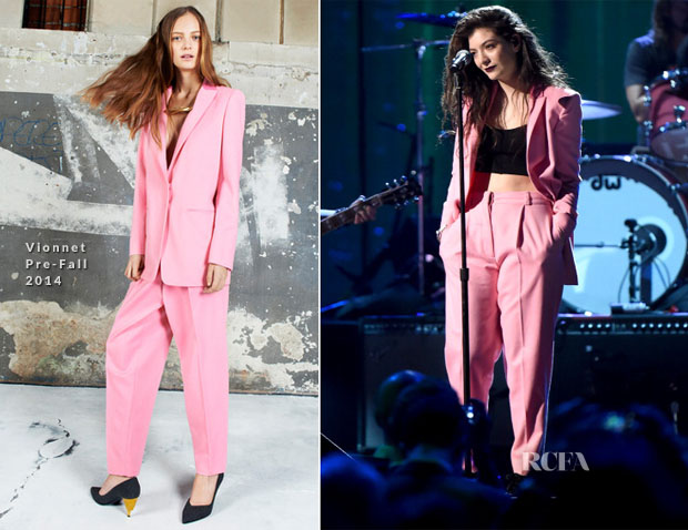 Lorde In Vionnet - 29th Annual Rock And Roll Hall Of Fame Induction Ceremony