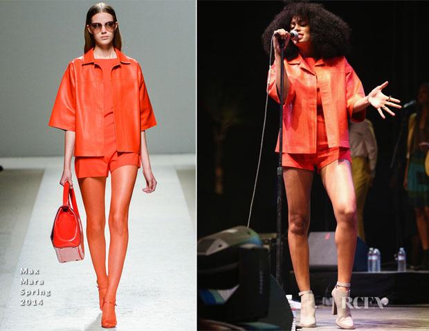 Solange Knowles In Max Mara - Coachella Music Festival Performance