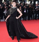 Li Yuchun 李宇春 In Stéphane Rolland Couture - 'Clouds Of Sils Maria' Cannes Film Festival Premiere